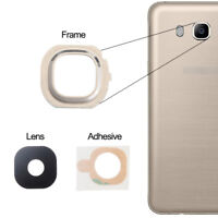 For Samsung Galaxy J7 2016 Back Camera Lens Glass Frame + Adhesive Gold J710F