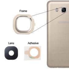 For Samsung Galaxy J7 2016 Back Camera Lens Glass Frame + Adhesive Gold J710F