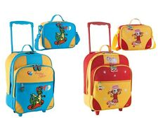 STEFANO Kinder Trolley Kinderreisetasche Kinderkoffer Kindertasche rot blau gelb