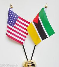United States of America & Mozambique Double Friendship Table Flags