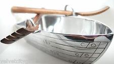 """Rowing Boat Groß Silber Salad Obstschale 15"""" Riemen Servierlöffel Ungewöhnlich"""