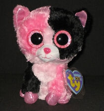 TY BEANIE BOOS - DAZZLE the COLORBLOCK CAT (JUSTICE STORE) - MINT w/MINT TAGS