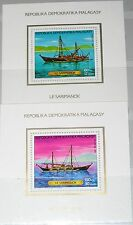 Madagascar MALAGASY 1987 bloc 40-41 s/s 788-89 navires fishing boats ships MNH