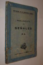 1949 REGLAMENTO DE SEÑALES - RED NACIONAL DE FERROCARRILES ESPAÑOLES - ILUSTRADO
