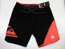 Quiksilver Men's New Wave High 19 Bonded Black Boardshorts NWT Size 30