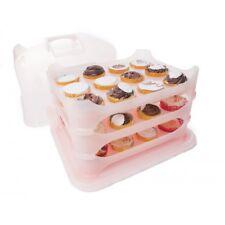 Transportador de cupcakes y pasteles - Rosa
