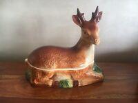 Michel Caugant Terrine cerf biche céramique faïence vintage Deer Shaped Handmade