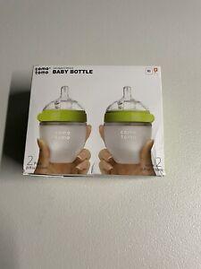Comotomo Baby Bottle Set, Green - 8oz (2 Pack) OPEN BOX