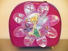 TINKERBELL Rolling Suitcase Trolley Luggage Pink w/ Sparkles Disney FREE SHIP
