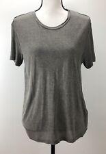Diesel Women's XS T-Shirt T-MORIPLAQUE Basic Short Sleeve Crewneck Grey $68 NWT