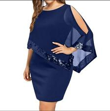 Womens Sexy Half Sleeve Lace Pencil Dress Dating Party Evening Dress Plus Size