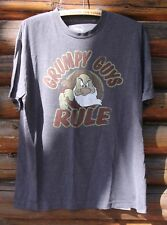 Disney Grumpy Guys Rule Snow White Grey Graphic T-Shirt Adult Size Large +