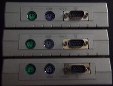 3 2 port PS/2 KVM + 1 4 port KVM Lot of 4 KVMs NO POWER CABLE