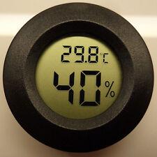 Roundish Mini Digital Cigar Humidor Hygrometer Thermometer Round Face Hot GU