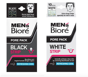 NEW BIORE MEN Charcoal Deep Cleansing Black Nose Strips Removes Blackheads