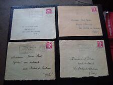 FRANCE - 4 enveloppes 1955/1956 (cy99) french (Z)