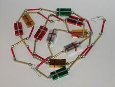 Glass Bead Chain Antique Garland Japan Beaded Christmas Ornament Decoration 1950