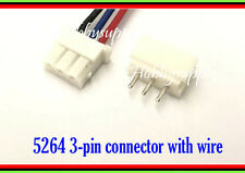 5 SET 5264 2.5mm 3-Pin Mini Male Female Housing Connector Header 20cm lead wire