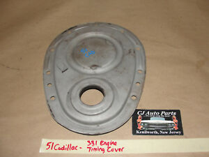 OEM 1951 51 Cadillac 331 FRONT TIMING CHAIN COVER TIMING TAB