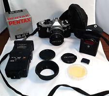 FOTOCAMERA VINTAGE MACCHINA FOTOGRAFICA Asahi Pentax ME Super Camera + ACCESSORI