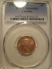 Super Gem Canada Elizabeth II 1957 Small Cent - PCGS MS-66RD