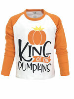 USA Toddler Kids Boy Tops T-shirt Baseball Raglan Outfits Set Clothes Halloween