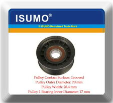 PT451/2 Groove Drive Belt Tensioner Pulley OD:70mm WI: 26.4 mm Bearing ID:17mm