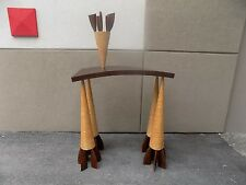 RARE WENDELL CASTLE STUDIO MADE WHIMSICAL CONSOLE TABLE SIGNED AND DATED 1986 P