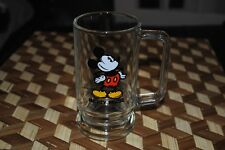 Mickey Mouse Vintage Glass Beer Mug Footed Disney World RARE Disneyland