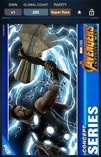 Topps Marvel Collect Avengers Infinity War Concept Series Thor #3 200cc