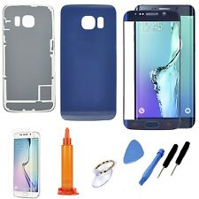 Blue Replacement LCD Screen Glass Battery Door Case For Samsung Galaxy S6 Edge