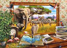Puzzle Zurück ins Leben, 1000 Teile, Tiere, Afrika, Wildtiere, Kunst, Clementoni