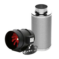 """VIVOSUN 8"""" inch Inline Duct Fan w/ Speed Controller & Air Carbon Filter Combo"""