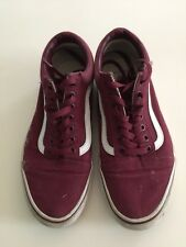 Vans Maroon Old Skool Sneakers Shoes - size 9 Men's/10.5 Women's