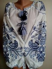 Ukrainian embroidery, embroidered blouse Bird, any color, XS - 4XL, Ukraine