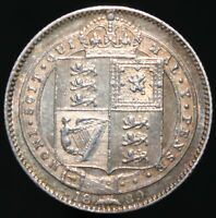 1889 | Victoria One Shilling 'Large Head' | Silver | Coins | KM Coins