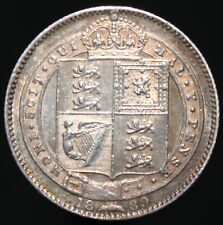 More details for 1889 | victoria one shilling 'large head' | silver | coins | km coins