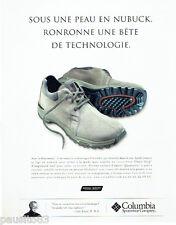 PUBLICITE ADVERTISING 056  2004   Columbia    chaussures Hastineau Look Campus