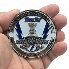 Tampa Bay Police Lightning Stanley Cup Champions Challenge Coin Back To Back NHL