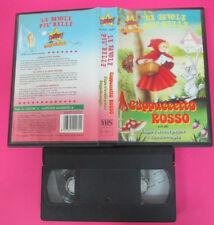 VHS film CAPPUCCETTO ROSSO animazione STARDUST D 18111 favole belle(F175) no dvd