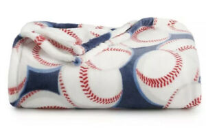 The Big One Baseball Blanket 5 x 6 ft Super Soft Plush New In Package!