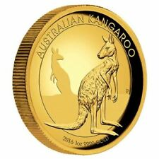2016 Australian 1oz Kangaroo High Relief Gold Proof Coin Perth Mint # 244 of 500