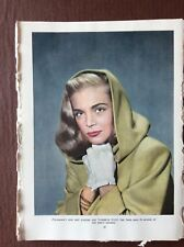 K1h Ephemera  1940s Book Plate Film Star Lizabeth Scott