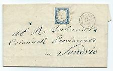 ANTICHI STATI 1861 SARDEGNA 20 CENTESIMI MORBEGNO 13/5 A/5036