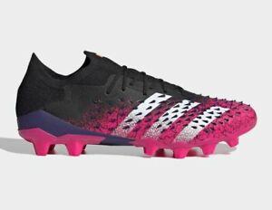 adidas Soccer PREDATOR FREAK.1 LOW HG/AG FZ3708 Core Black Shock Pink