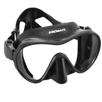 Stealth Frameless Scuba Dive Mask Spearfishing Snorkeling Freediving Low Volume