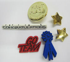 6 Winner Buttons 1st Place,Stars,Card Making,Craft & Scrapbooking Embellishments