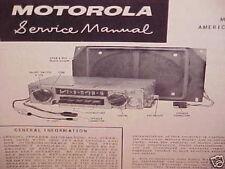 1961 AMC RAMBLER CLASSIC AMERICAN AMBASSADOR MOTOROLA AM RADIO SERVICE MANUAL 61