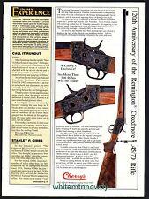 1994 REMINGTON Creedmore 45/70 125th Anniversary Commemorative Rifle Cherry's AD