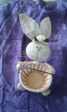 easter bunny rabbit basket country style eggs b